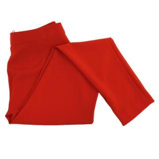 Max Mara Red Tapered Zipped Cuff Trousers