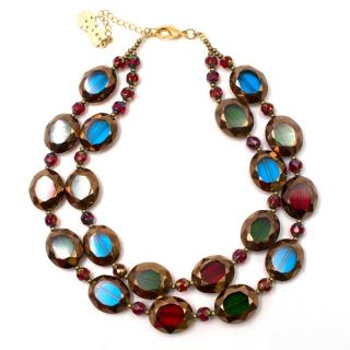 Butler & Wilson Multi-coloured Double Row Necklace