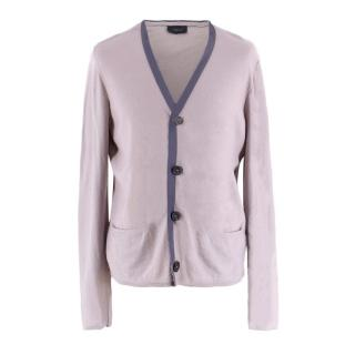Lanvin Men's Grey Wool Cardigan