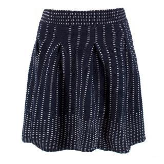 Maje Blue Knit Miniskirt