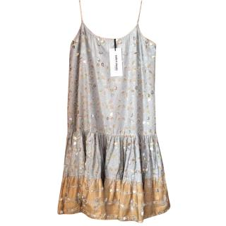 Juliet Dunn leaf print dress