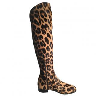 Aquazurra Pony Hair Santana Flat Boots