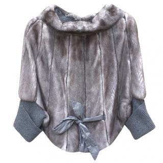 Brunello Cucinelli Cashmere & Mink Vision Fur Pullover