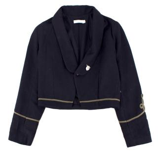Stella McCartney Kid's Black Wool Military Jacket