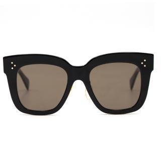 Celine Black Squared Cat-Eye Sunglasses