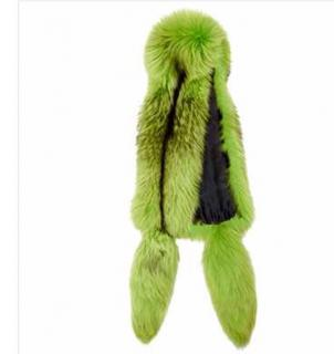 Ekaterina furs lime and black fox stole