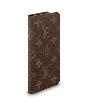 Louis Vuitton iPhone X & XS Folio Monogram Canvas Phone Case