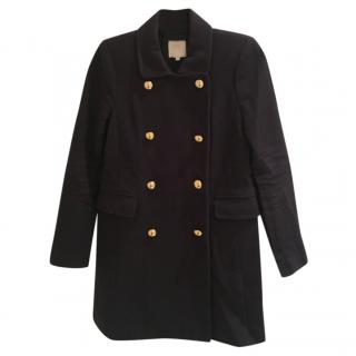 J Crew Double Breasted Blue Coat
