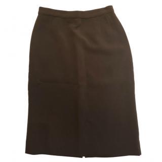 Salvatore Ferragamo brown pencil skirt