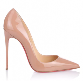 Christian Louboutin So Kate 120 Patent Nude Pumps