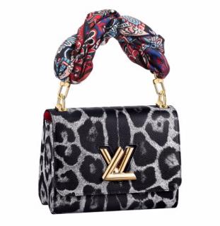 Louis Vuitton Wild Animal Print Canvas Twist MM Bag