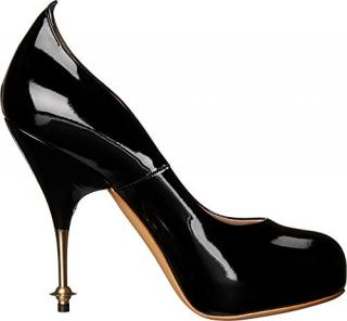 Vivienne Westwood black patent drama courts