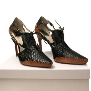 Christian Dior Crocodile & Python Leather Sandals