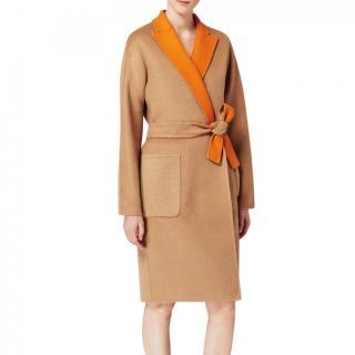 Max Mara vincita contrast lapel coat