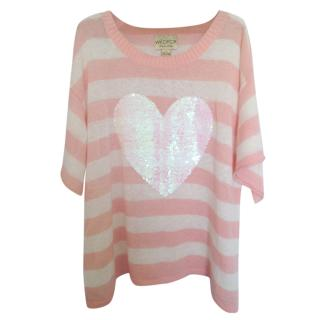 Wildfox Striped wool sequin sweater