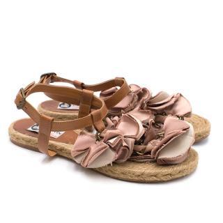 Lanvin Espadrille Floral Embellished Sandals