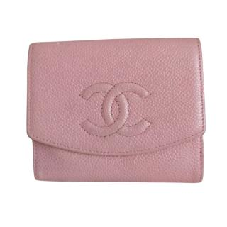 Chanel Pink Caviar Leather Purse