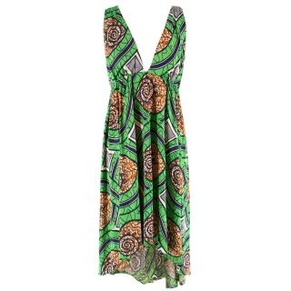 Nieves Lavi Silk Patterned Dress