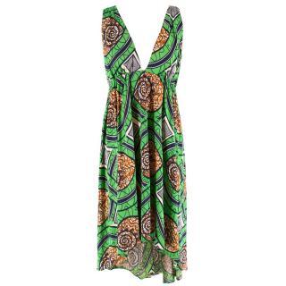 Nieves Lavi Silk Patterned Dress
