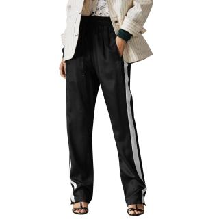 Burberry Side Stripe Silk Satin Tailored Track Pants - Current Season
