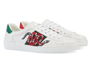 Gucci Snake Ace embroidered leather sneakers