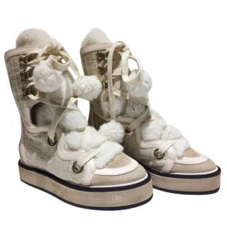 NICHOLAS KIRKWOOD Kira tweed Snow Boots 35.5