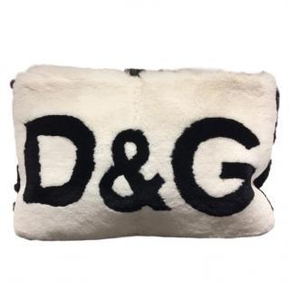 Dolce & Gabbana Cleo fur clutch bag