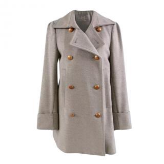 Alexander McQueen Wool Blend Double Breasted Coat