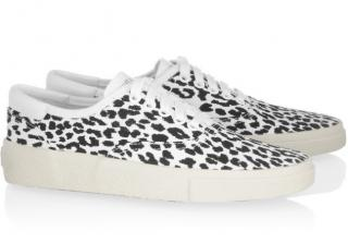Saint Laurent Animal Print Sneakers