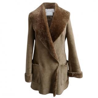 Nicole Farhi Sheepskin Coat