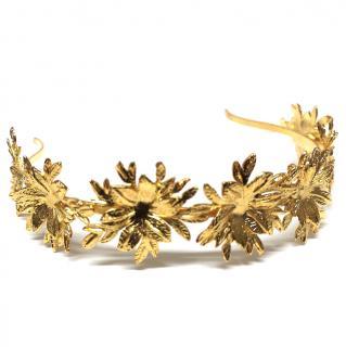 Caroline Chammas Gold Floral Headpiece
