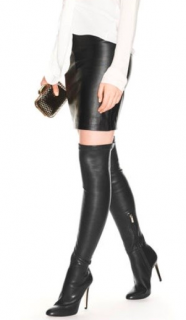 Jimmy Choo Stretch Leather Over the Knee Boots
