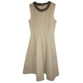 Kate Spade Beige Sleeveless Dress