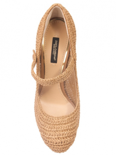 Dolce & Gabbana Woven Mary Jane Pumps