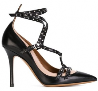 Valentino's 'Love Latch' two-tone leather pumps