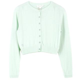 Chateau de Sable Mint Green Cotton Cardigan