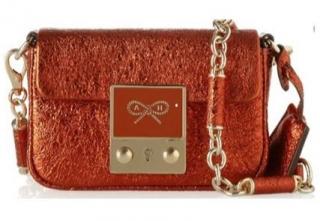Anya Hindmarch Tiny Tim Metallic Leather Shoulder Bag