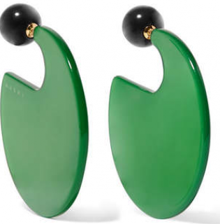 Marni Green Disc Statement Earrings