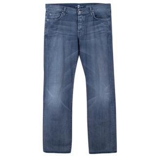 7 For All Mankind Men�s Blue Straight Jeans