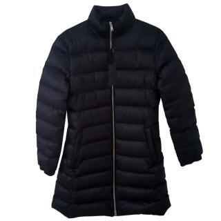 Prada goose down black quilted coat