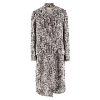Paul Smith Black and White Wool Knit Coat