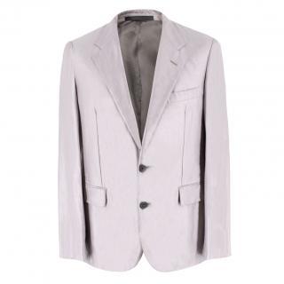 Lanvin Grey Mauve Linen-blend Blazer