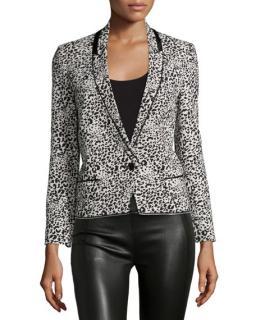 Zadig & Voltaire Deluxe Leopard Print Monochrome Jacket