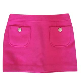 Paul & Joe Pink Wool Blend Mini Skirt