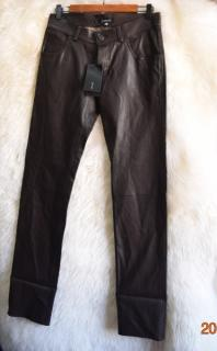 JITROIS men's black leather pants