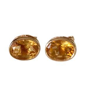 Bespoke 9ct Gold Citrine Stud Earrings