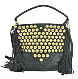 Jerome Dreyfuss Mario studded fringed suede bag