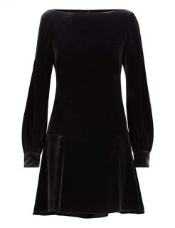 Polo Ralph Lauren Black Velvet Dress