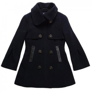 Mackage Black Wool Cashmere Double Breasted Coat