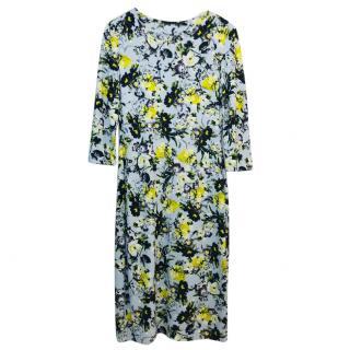 Erdem Flower Print Midi Dress